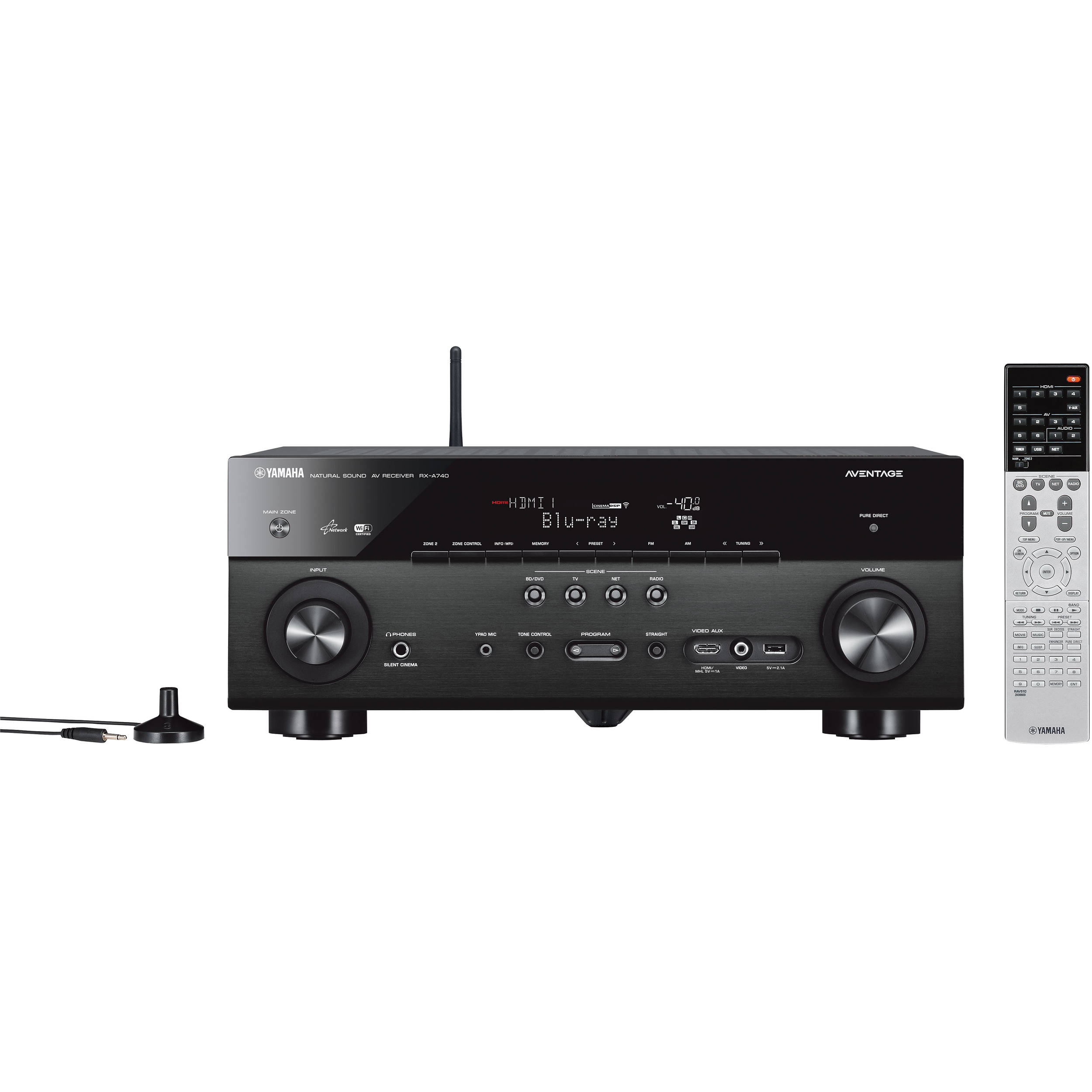yamaha aventage rx a740 7 2 channel network av receiver. Black Bedroom Furniture Sets. Home Design Ideas