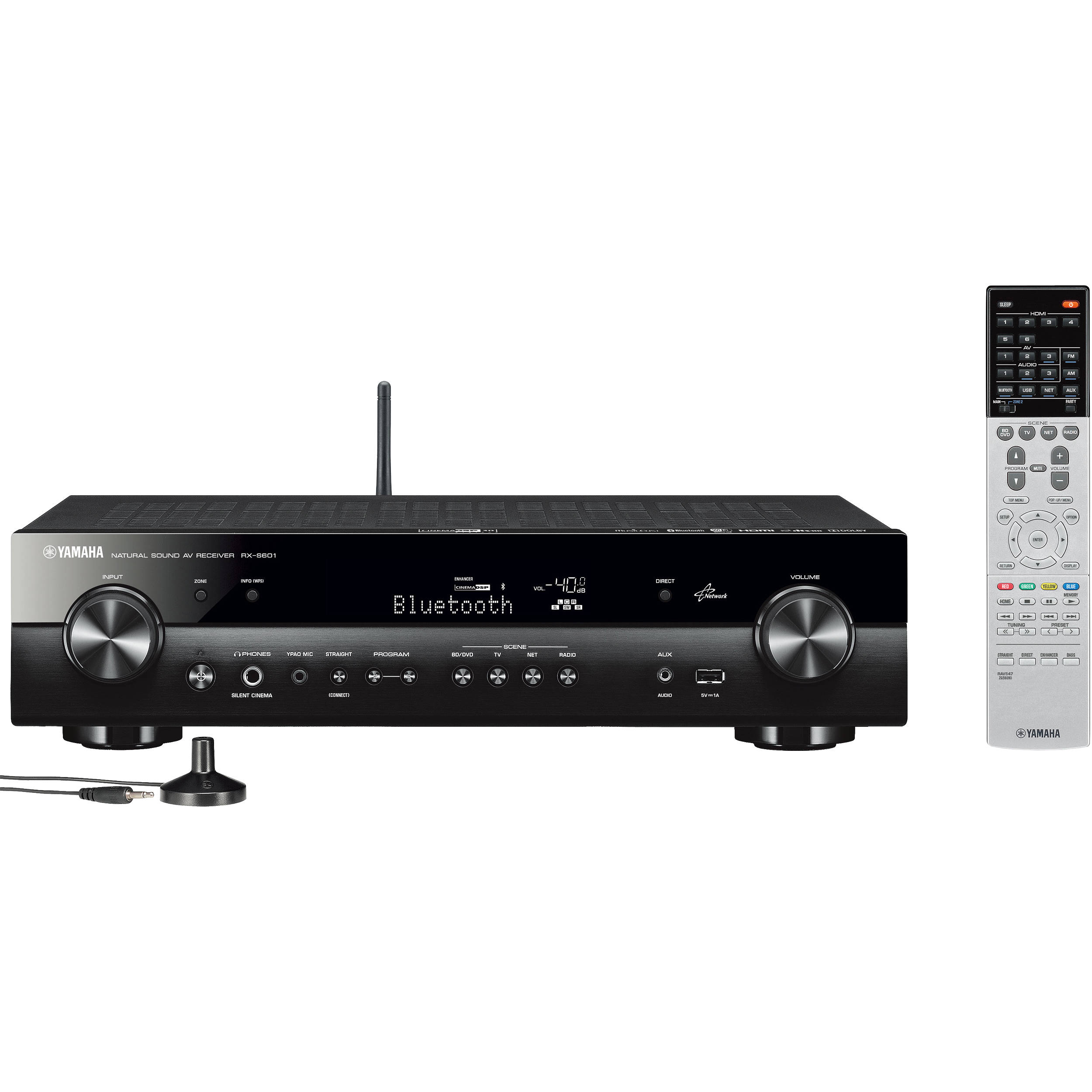 yamaha rx s601 5 1 channel slim network a v receiver rx s601bl. Black Bedroom Furniture Sets. Home Design Ideas