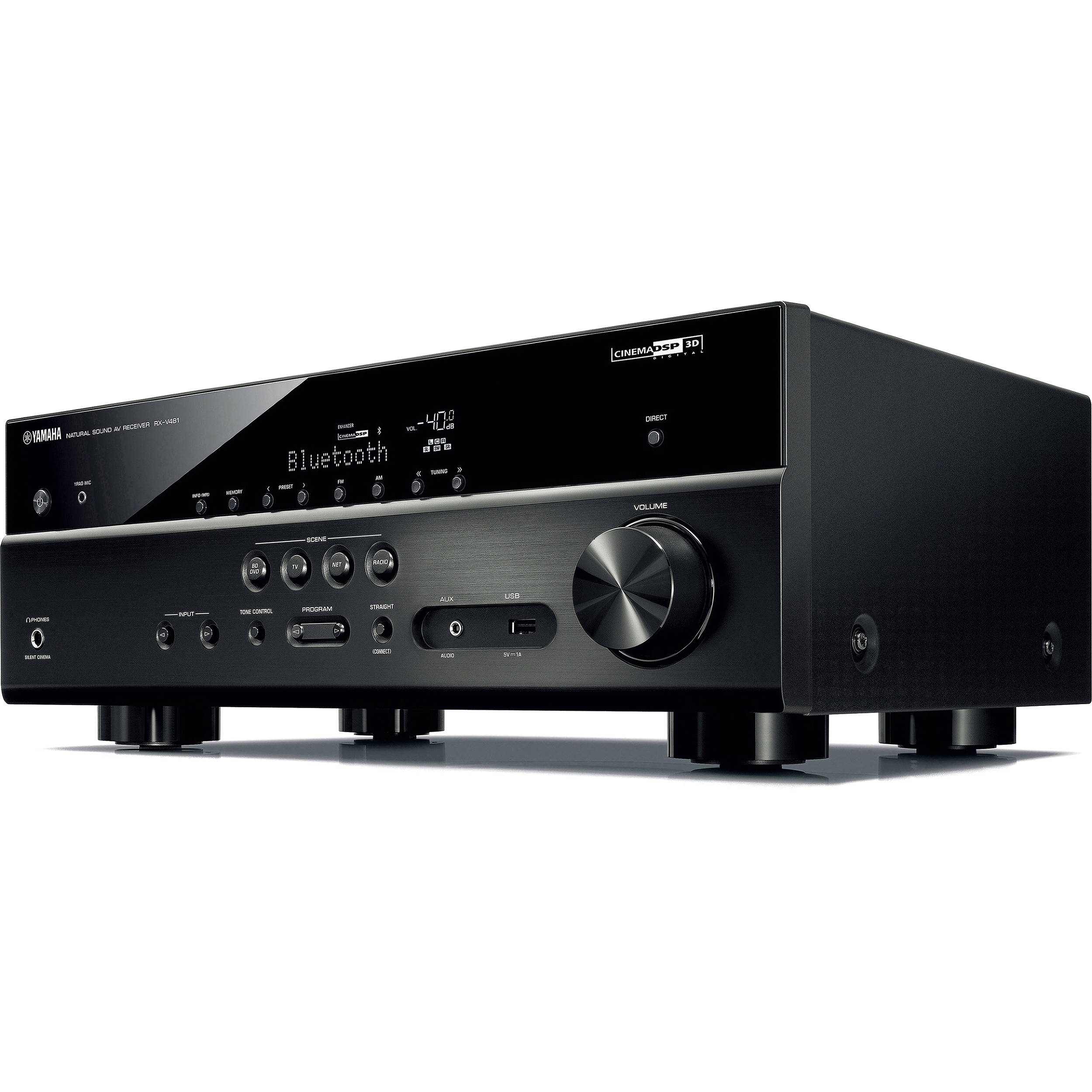 yamaha rx v481 5 1 channel network a v receiver black. Black Bedroom Furniture Sets. Home Design Ideas