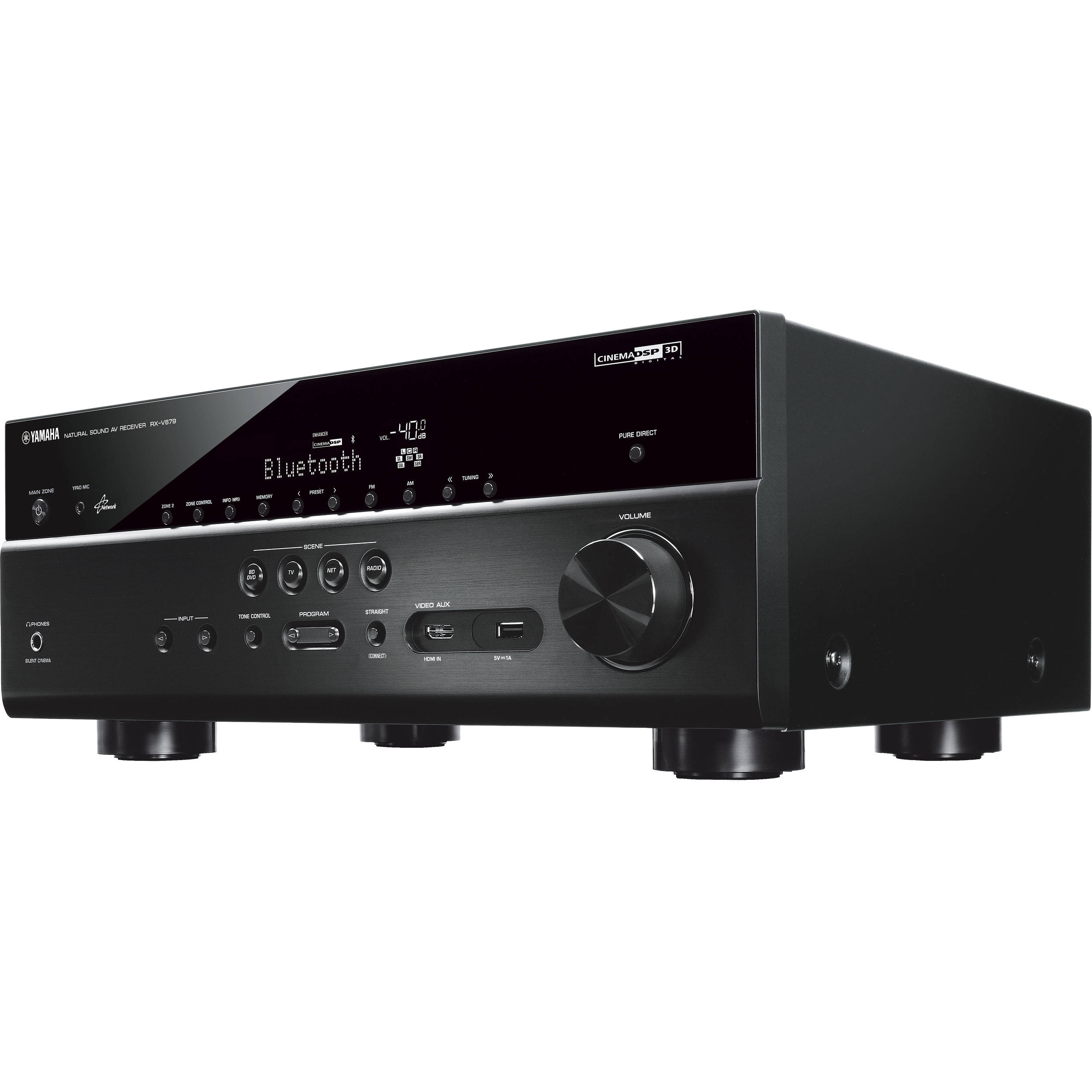 yamaha rx v679bl 7 2 channel av receiver black rx v679bl b h. Black Bedroom Furniture Sets. Home Design Ideas