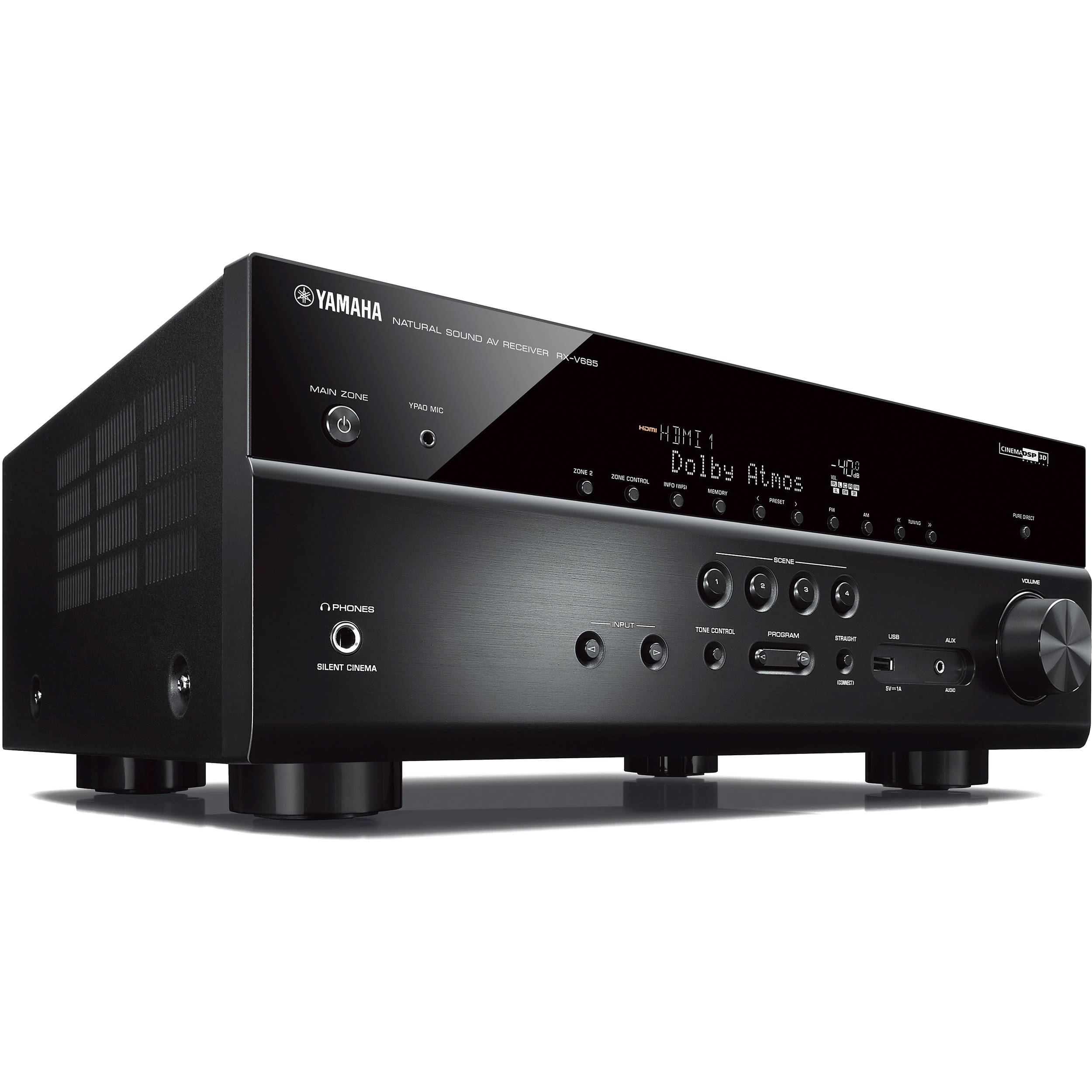 yamaha rx v685 7 2 channel musiccast a v receiver rx. Black Bedroom Furniture Sets. Home Design Ideas