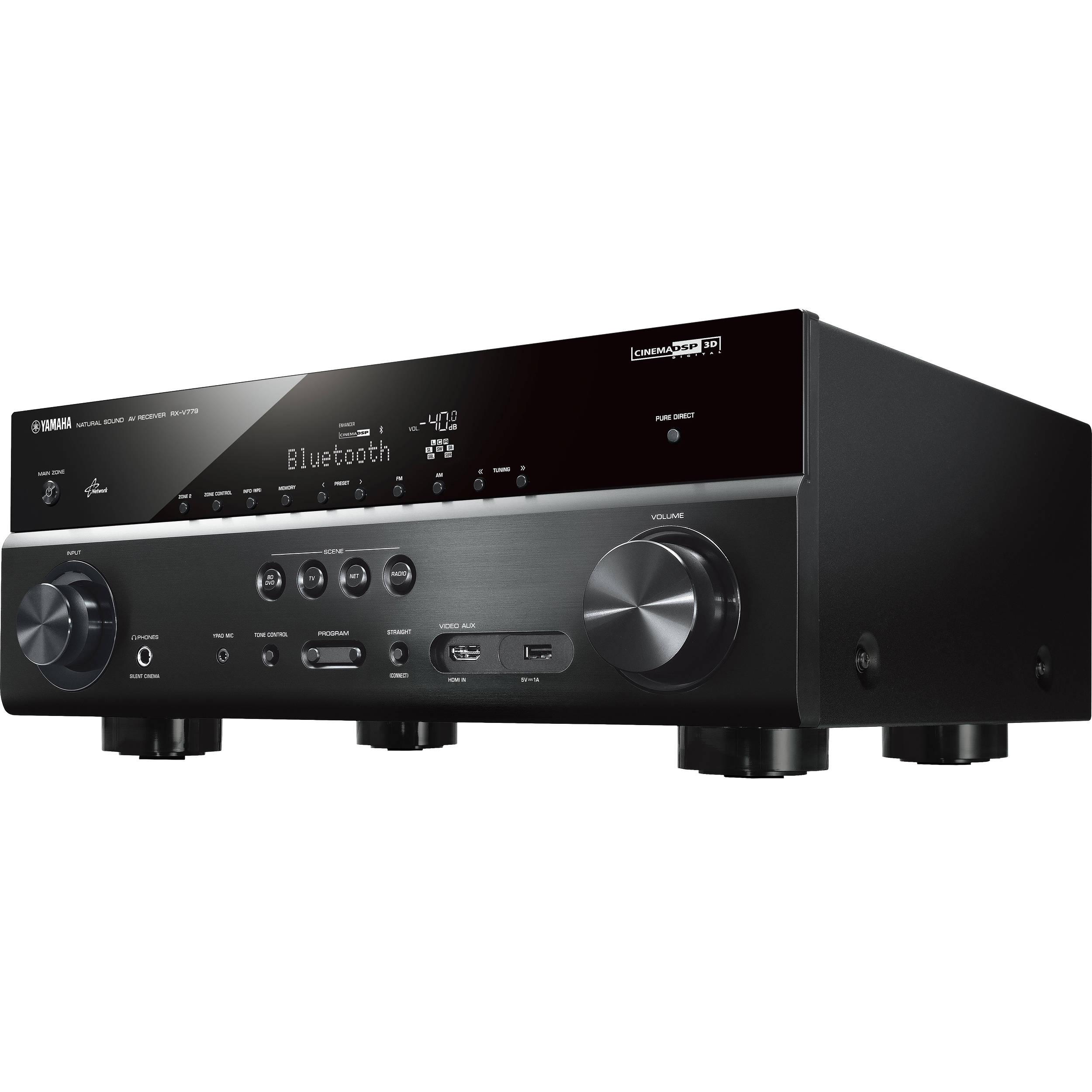 Yamaha rx v779bl 7 2 channel av receiver black rx v779bl b h for Yamaha 7 2 receiver reviews