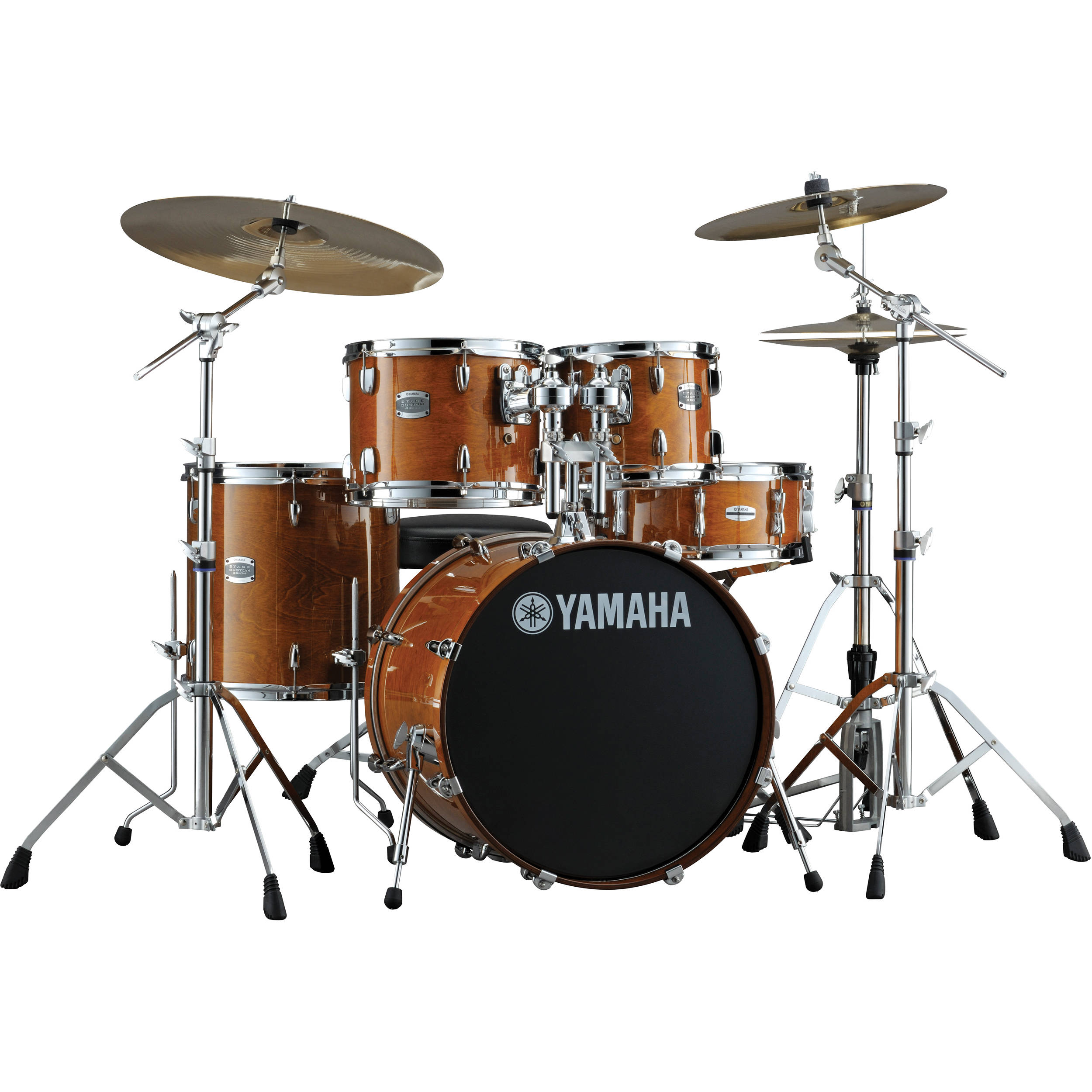 yamaha sbp2f5 stage custom birch acoustic 5 piece drum. Black Bedroom Furniture Sets. Home Design Ideas