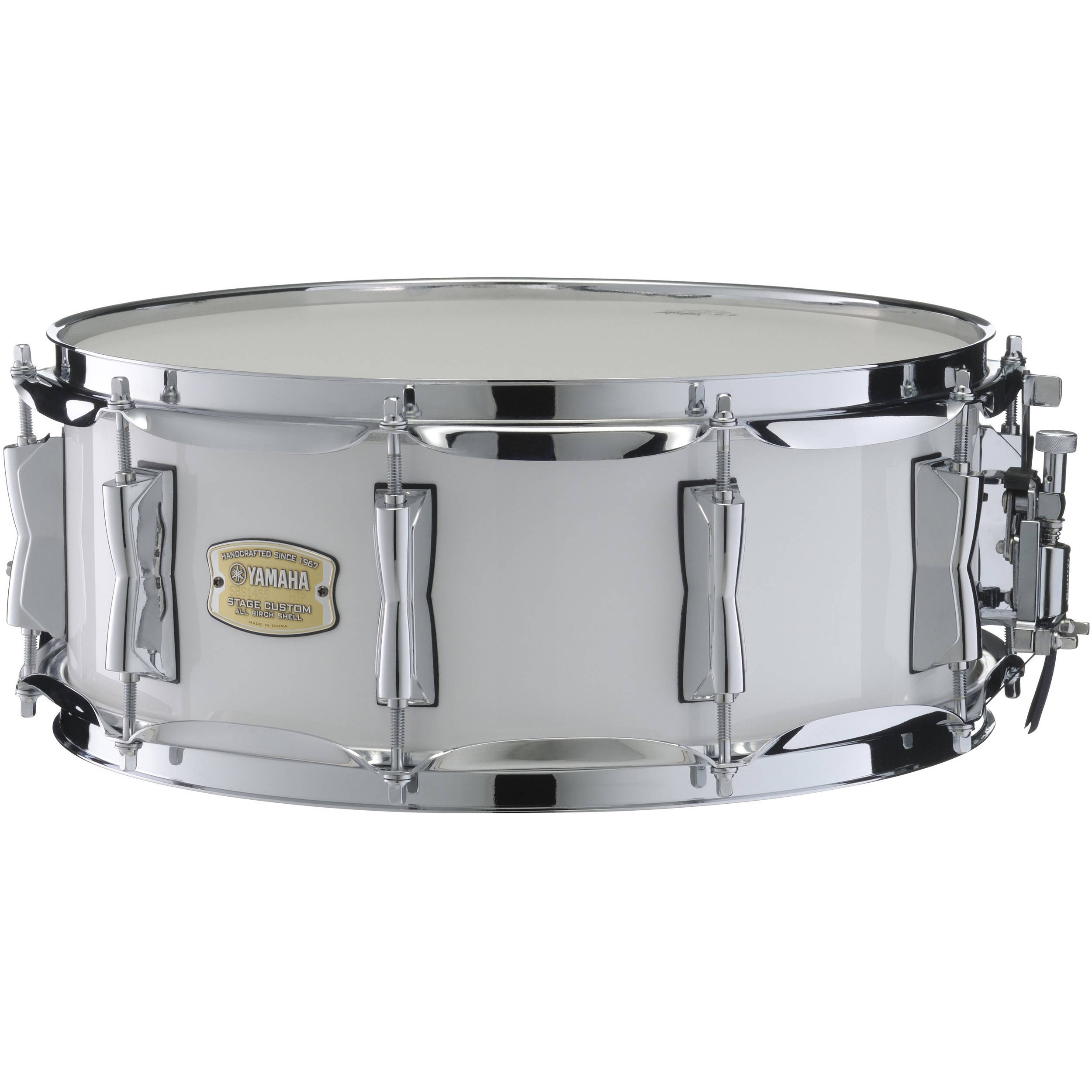yamaha sbs1455pw stage custom birch snare pure white. Black Bedroom Furniture Sets. Home Design Ideas