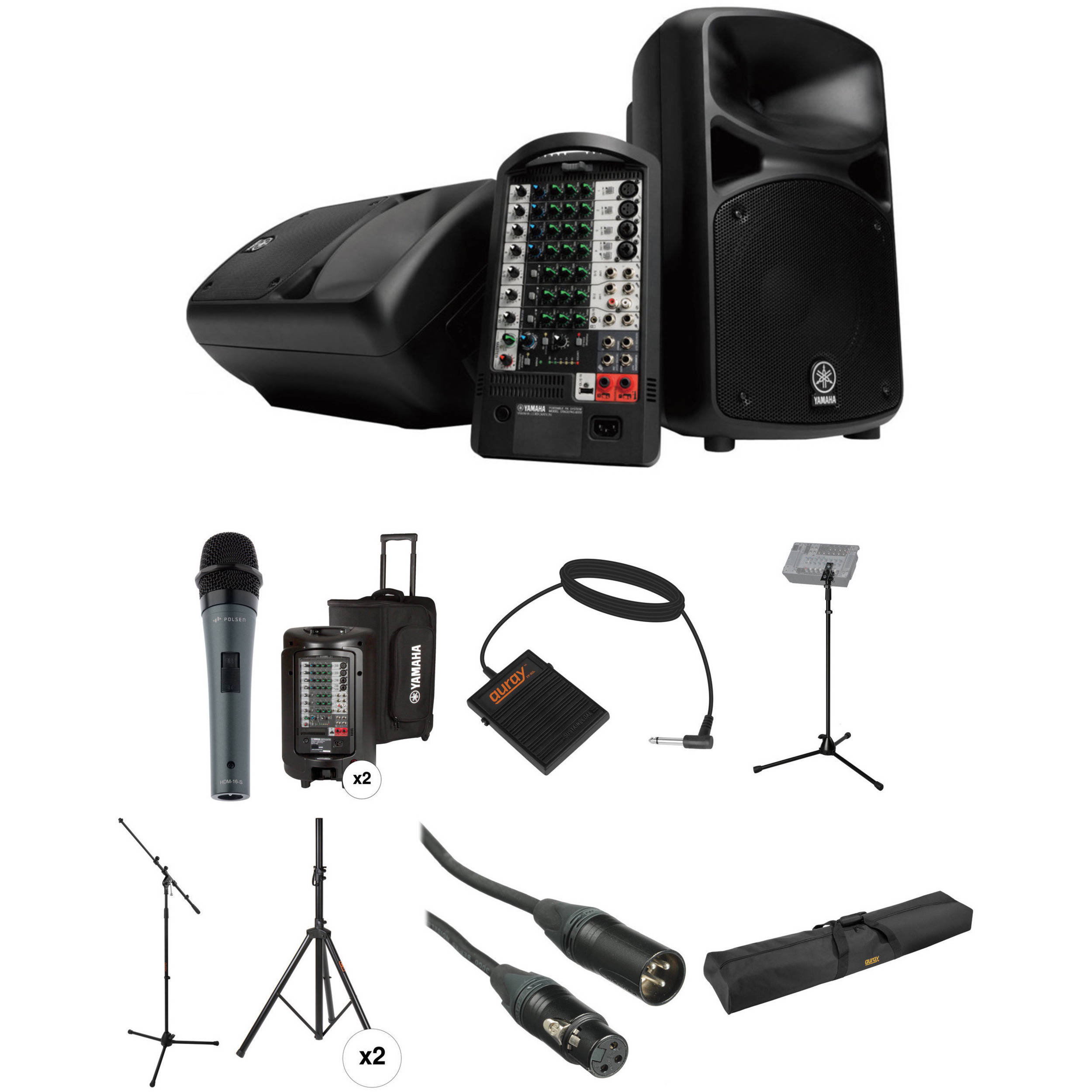Yamaha Stagepas I With Stand And Xlr Cable