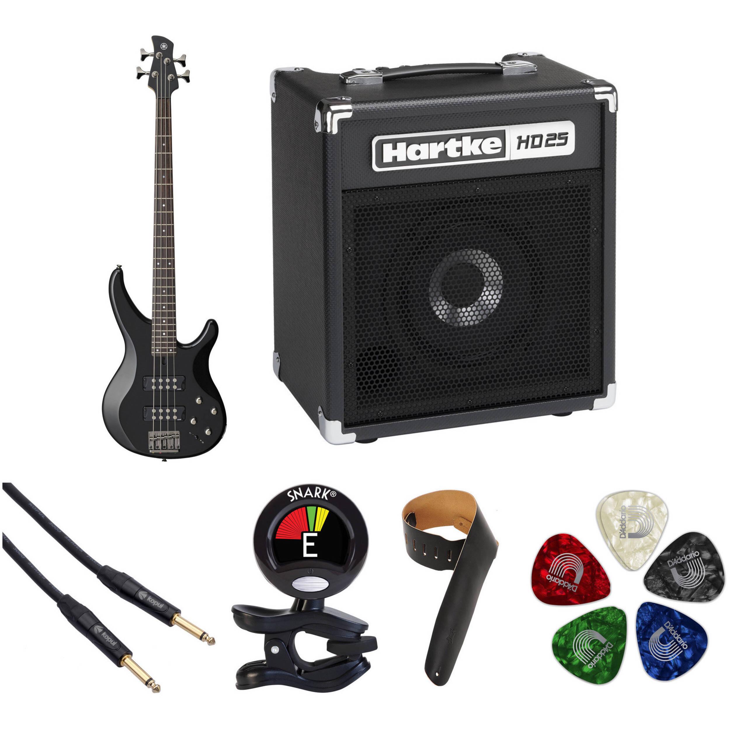 Yamaha Electric Motor Kit: Yamaha TRBX304 Electric Bass Starter Kit (Black) B&H Photo