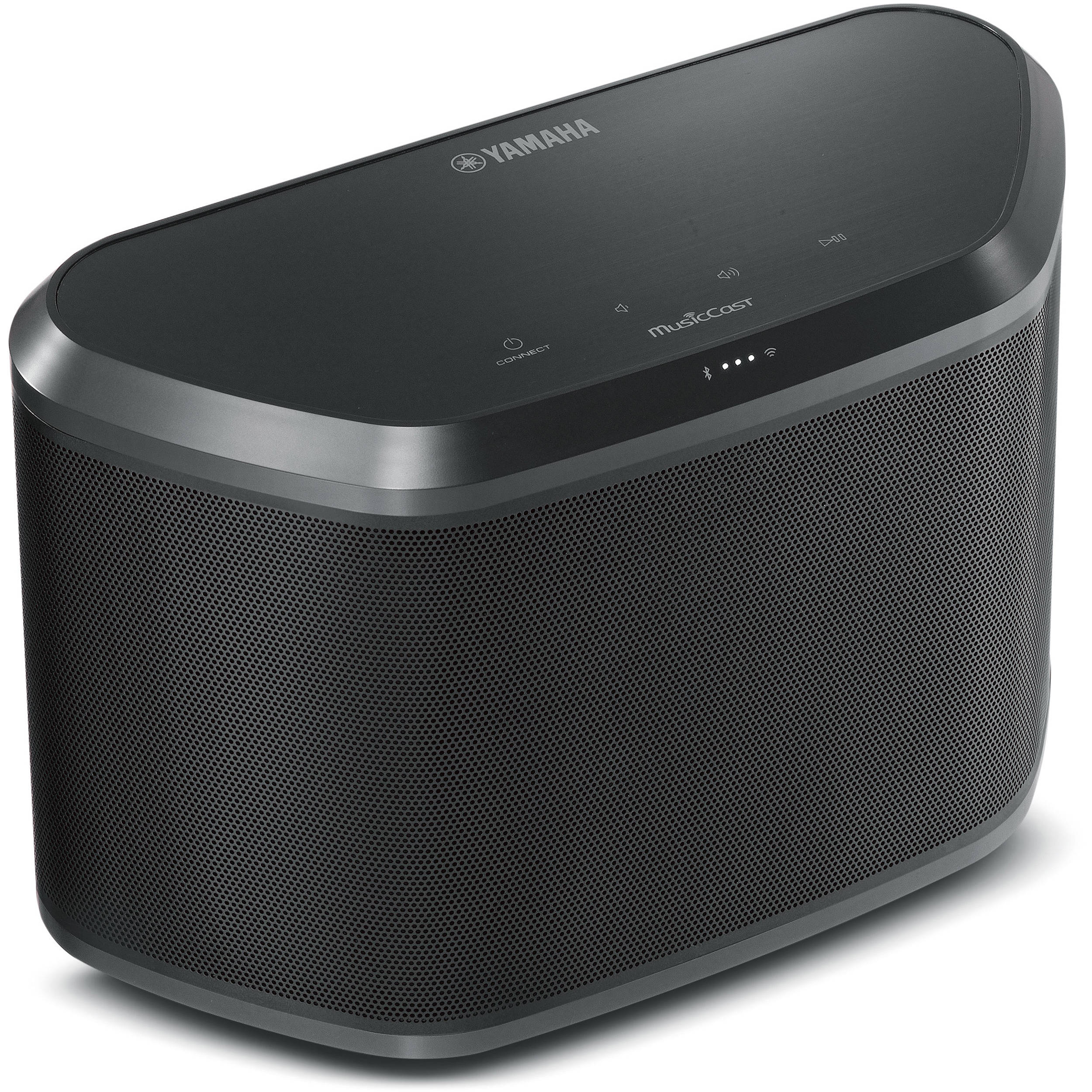 yamaha wx 030 musiccast wireless speaker black wx 030bl b h