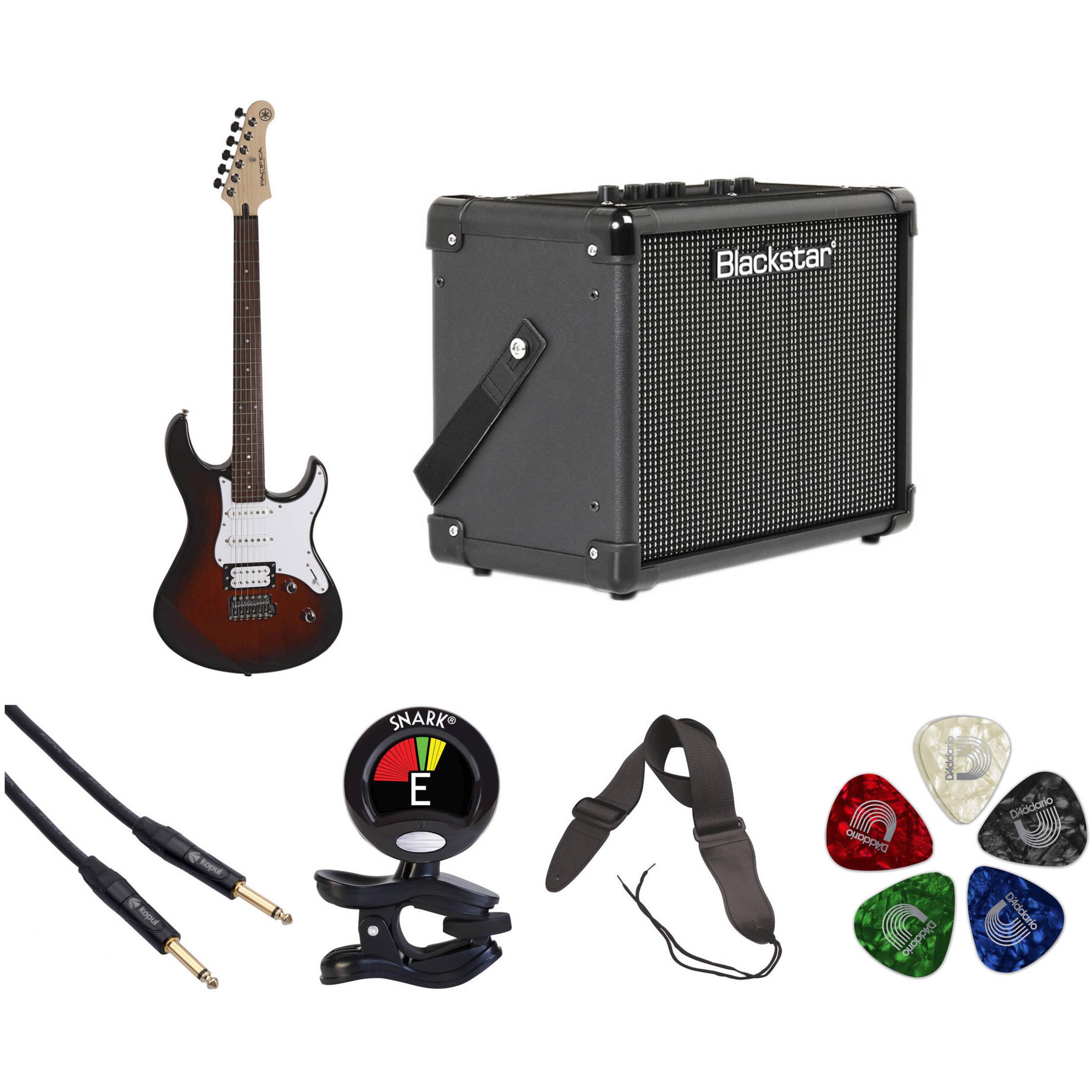 yamaha pac112v electric guitar starter kit old violin sunburst. Black Bedroom Furniture Sets. Home Design Ideas