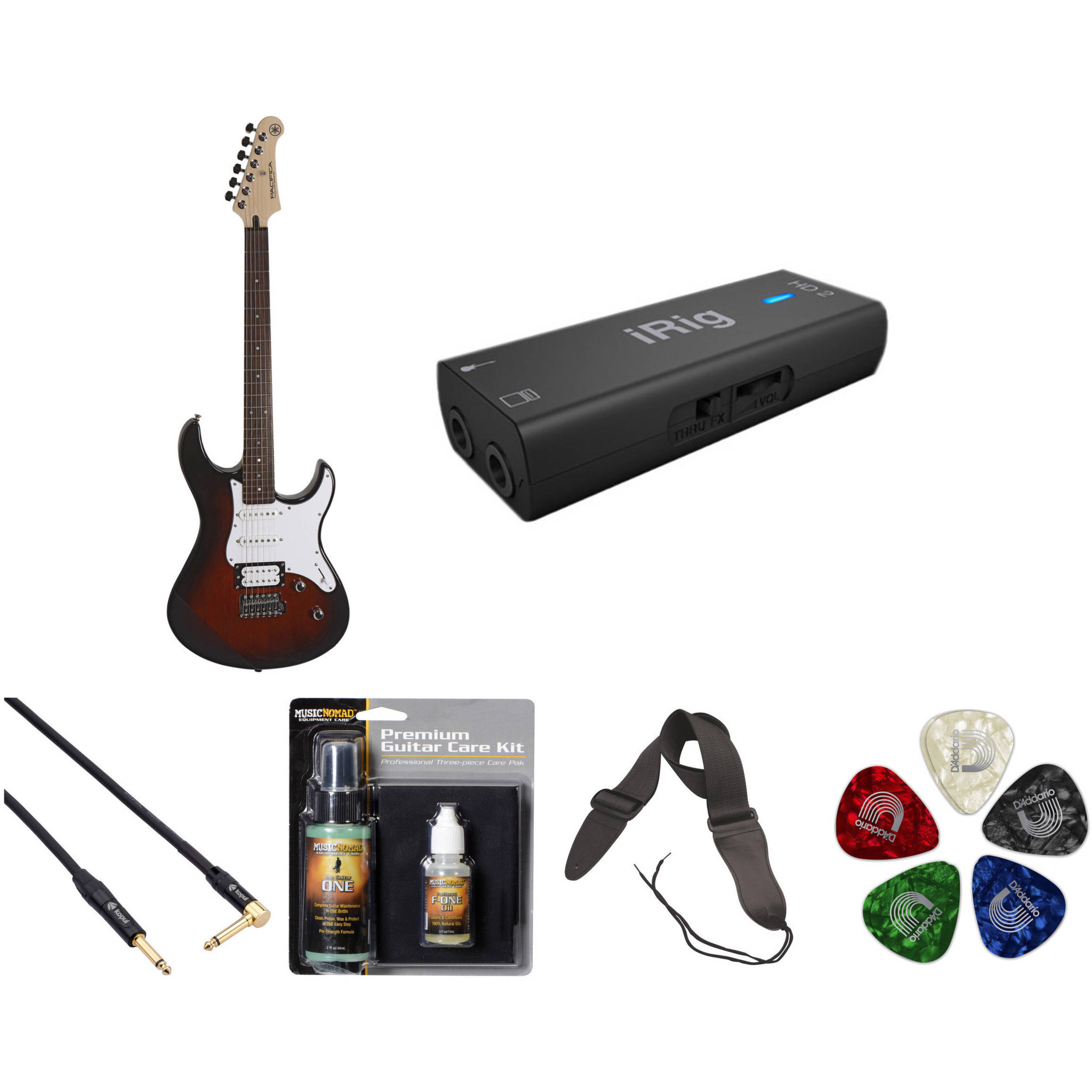 yamaha pac112v electric guitar home recording starter kit b h. Black Bedroom Furniture Sets. Home Design Ideas