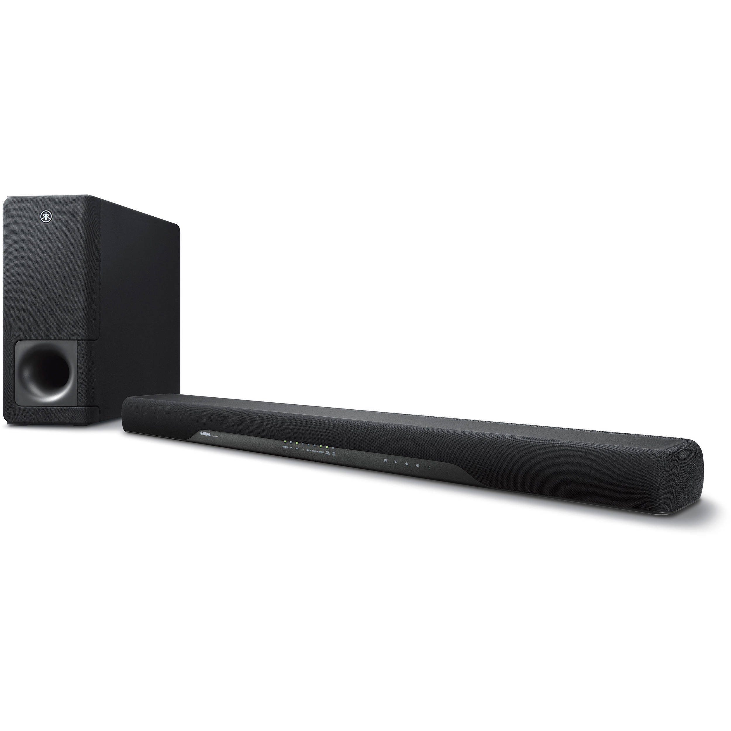 yamaha yas 207 200w 2 1 channel soundbar system yas 207bl b h. Black Bedroom Furniture Sets. Home Design Ideas