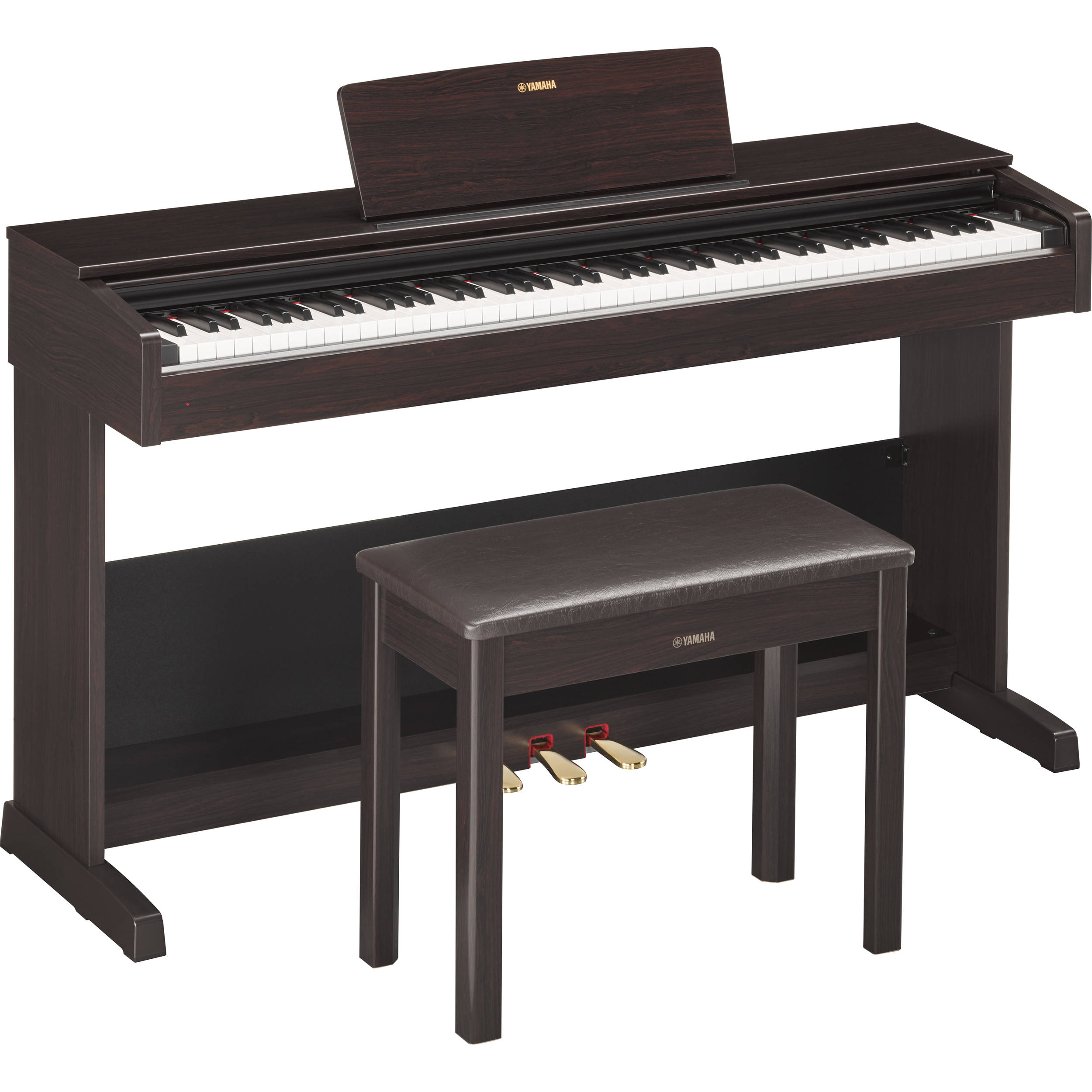 yamaha arius ydp 103r digital piano with bench ydp103r b h