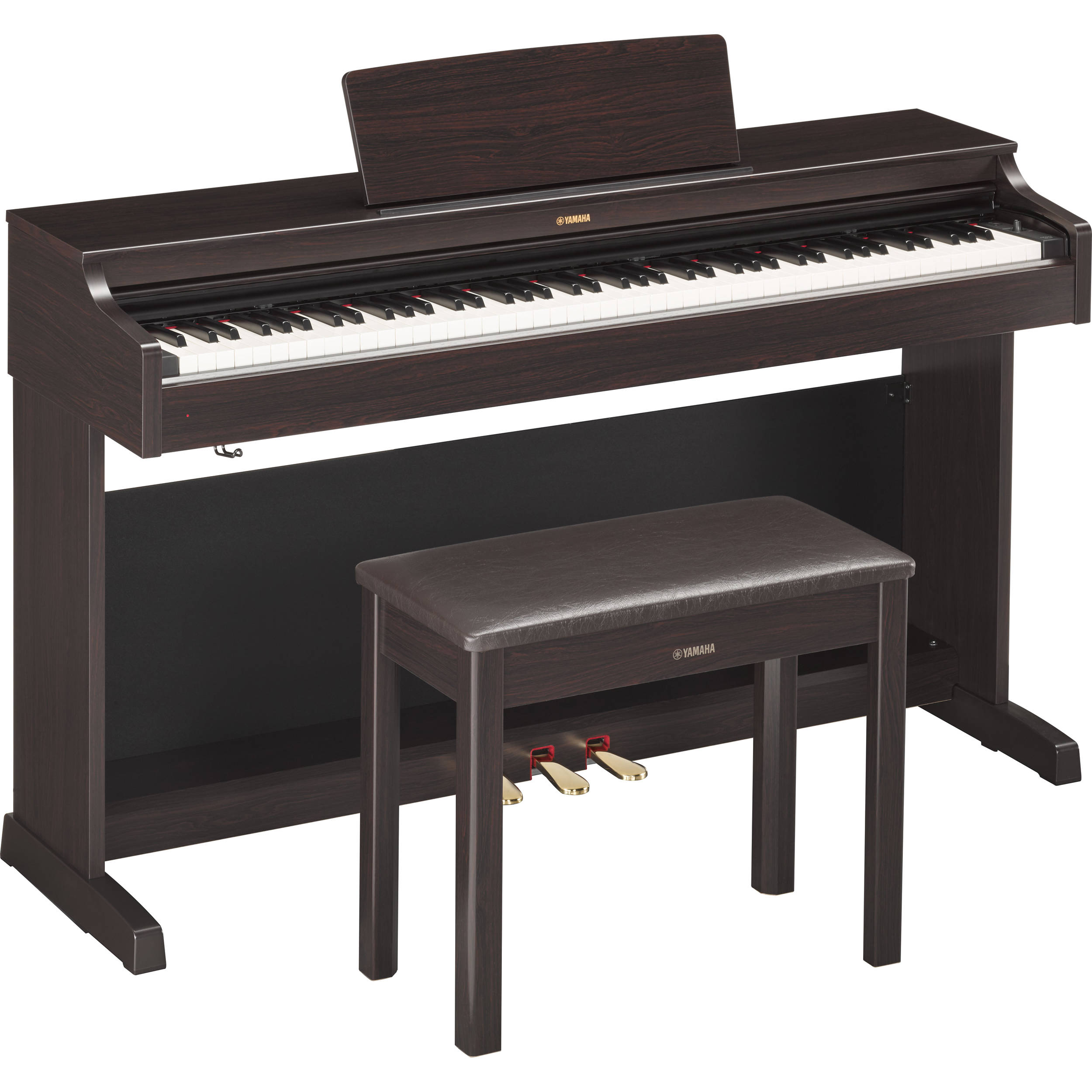 yamaha arius ydp 163r digital piano with bench ydp163r b h