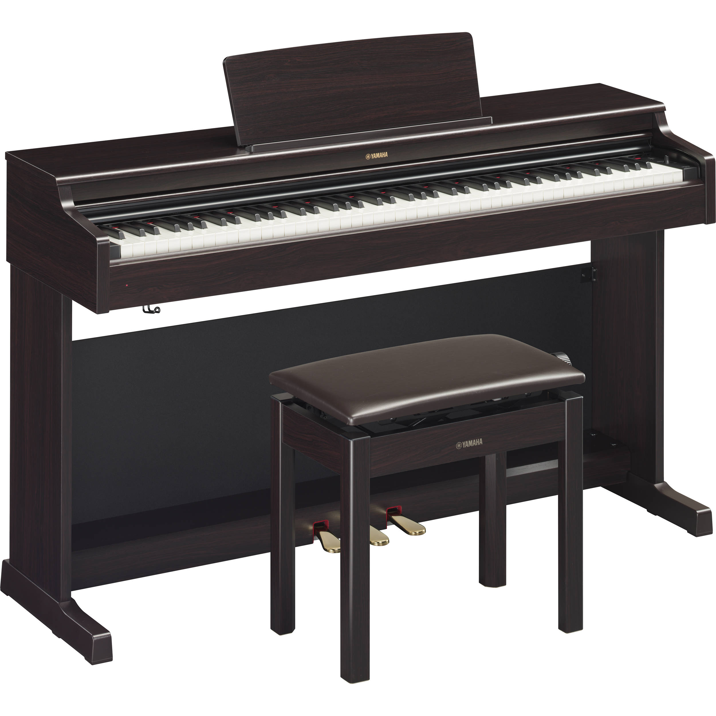 yamaha arius ydp 164 88 key digital console piano ydp164r b h. Black Bedroom Furniture Sets. Home Design Ideas