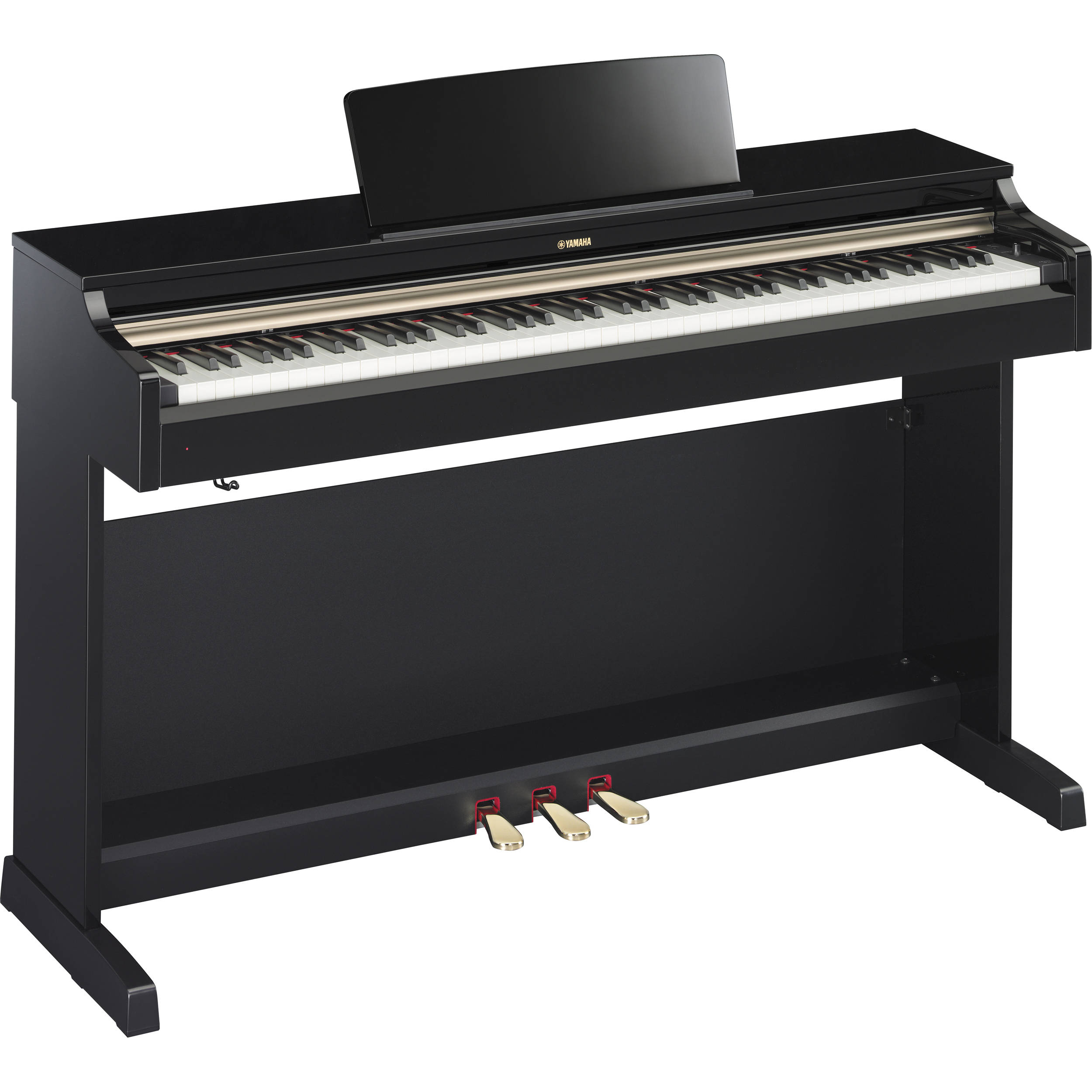 yamaha arius ydp 162pe digital piano polished ebony ydp162pe. Black Bedroom Furniture Sets. Home Design Ideas