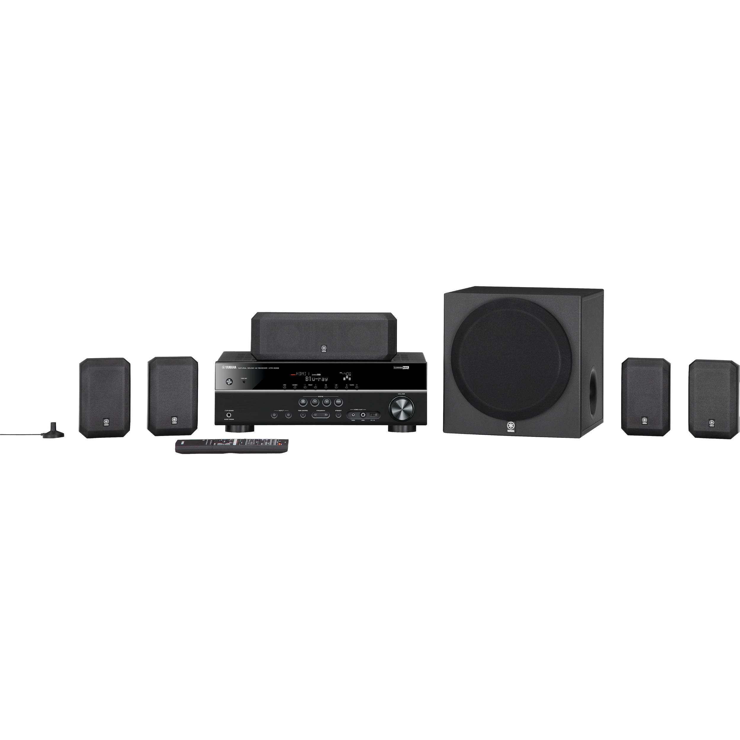 Yamaha yht 399ubl 5 1 channel home theater in a box yht 399ubl for Home theater yamaha