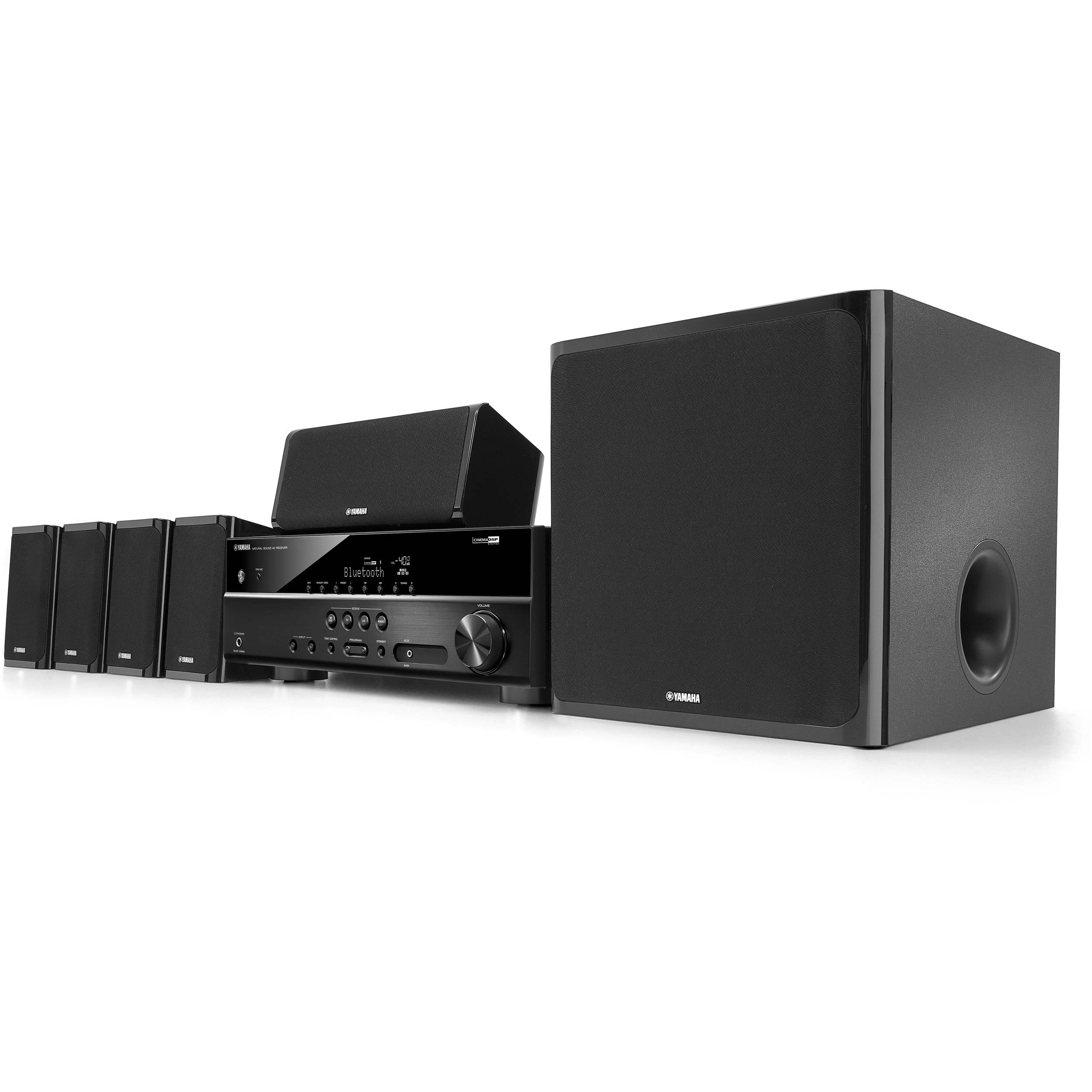yamaha yht 4920ubl 5 1 channel home theater in a box yht. Black Bedroom Furniture Sets. Home Design Ideas