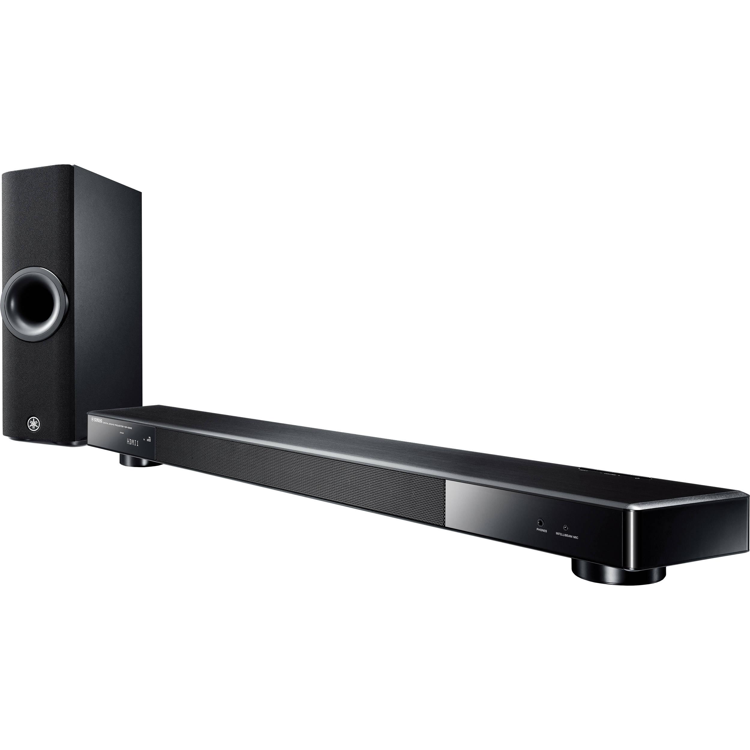 yamaha ysp 2500 162w 7 1 channel soundbar system ysp 2500bl b h. Black Bedroom Furniture Sets. Home Design Ideas