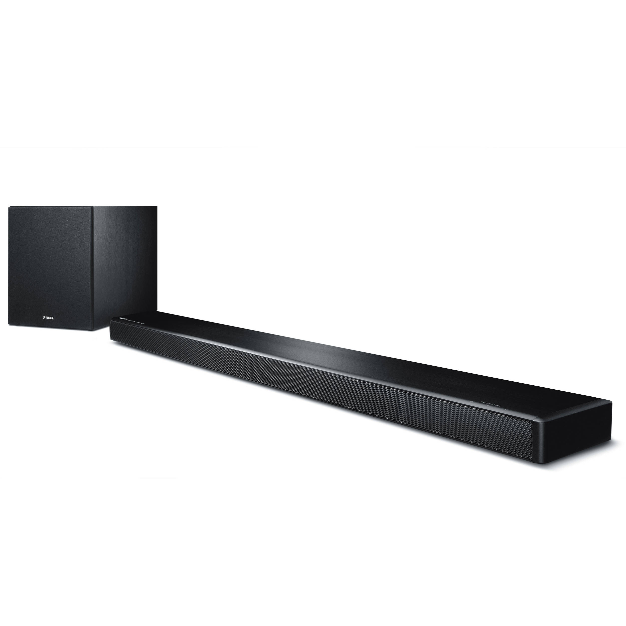 yamaha musiccast ysp 2700 107w 7 1 channel soundbar ysp 2700bl. Black Bedroom Furniture Sets. Home Design Ideas