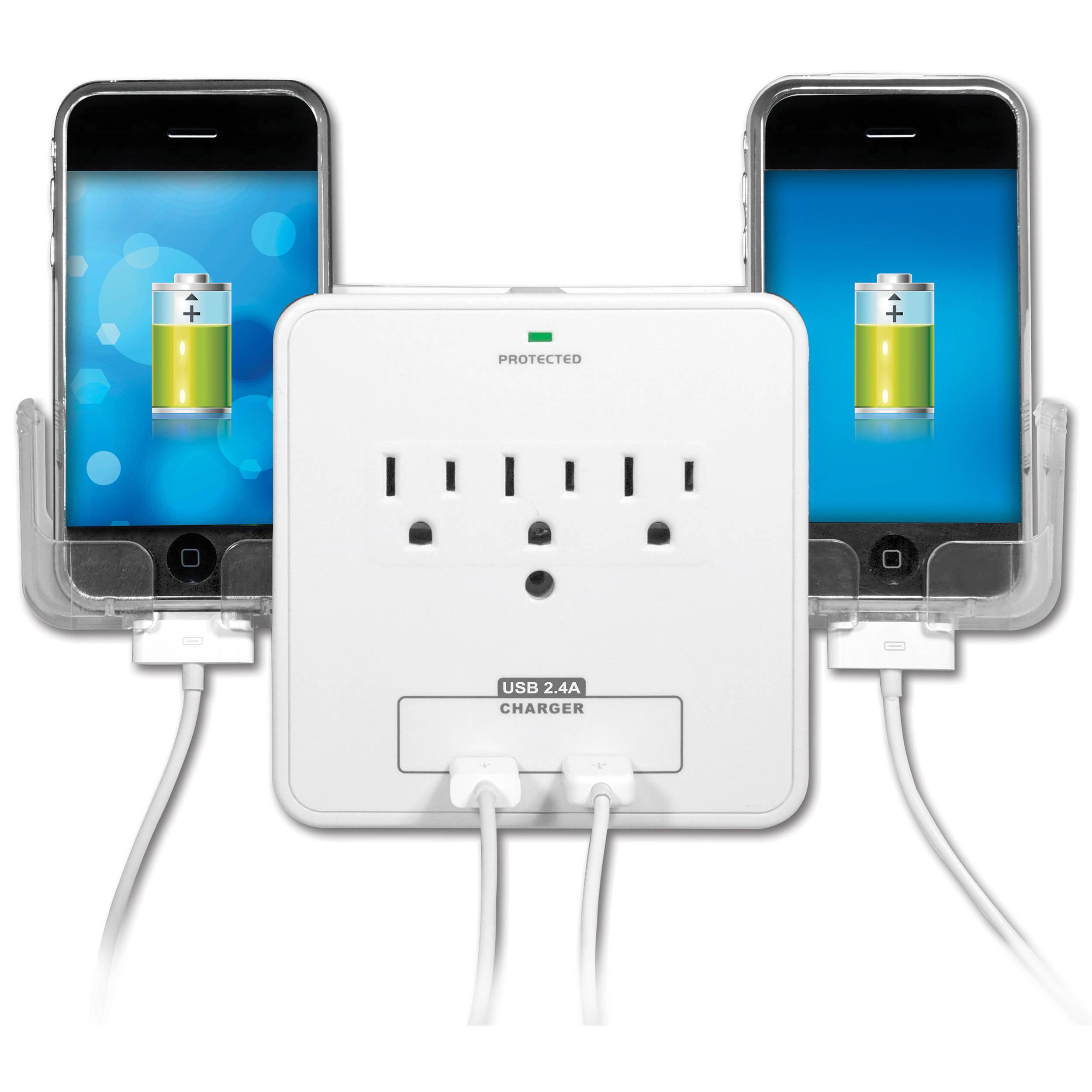 Yubi Power Wall Charging Station Plus Dual Phone Ybw3p2us21ph