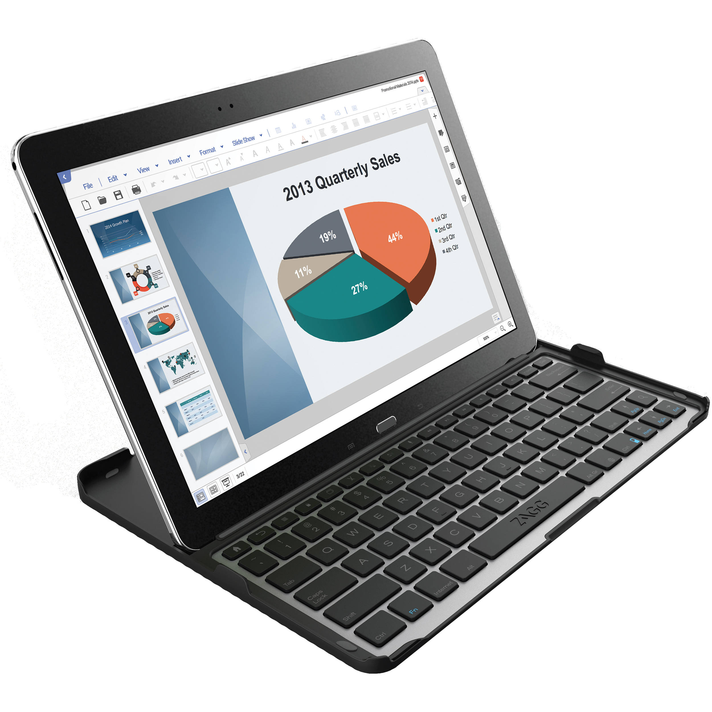 ZAGG Cover-Fit Keyboard for Samsung Galaxy Note Pro N12PKB-BB0