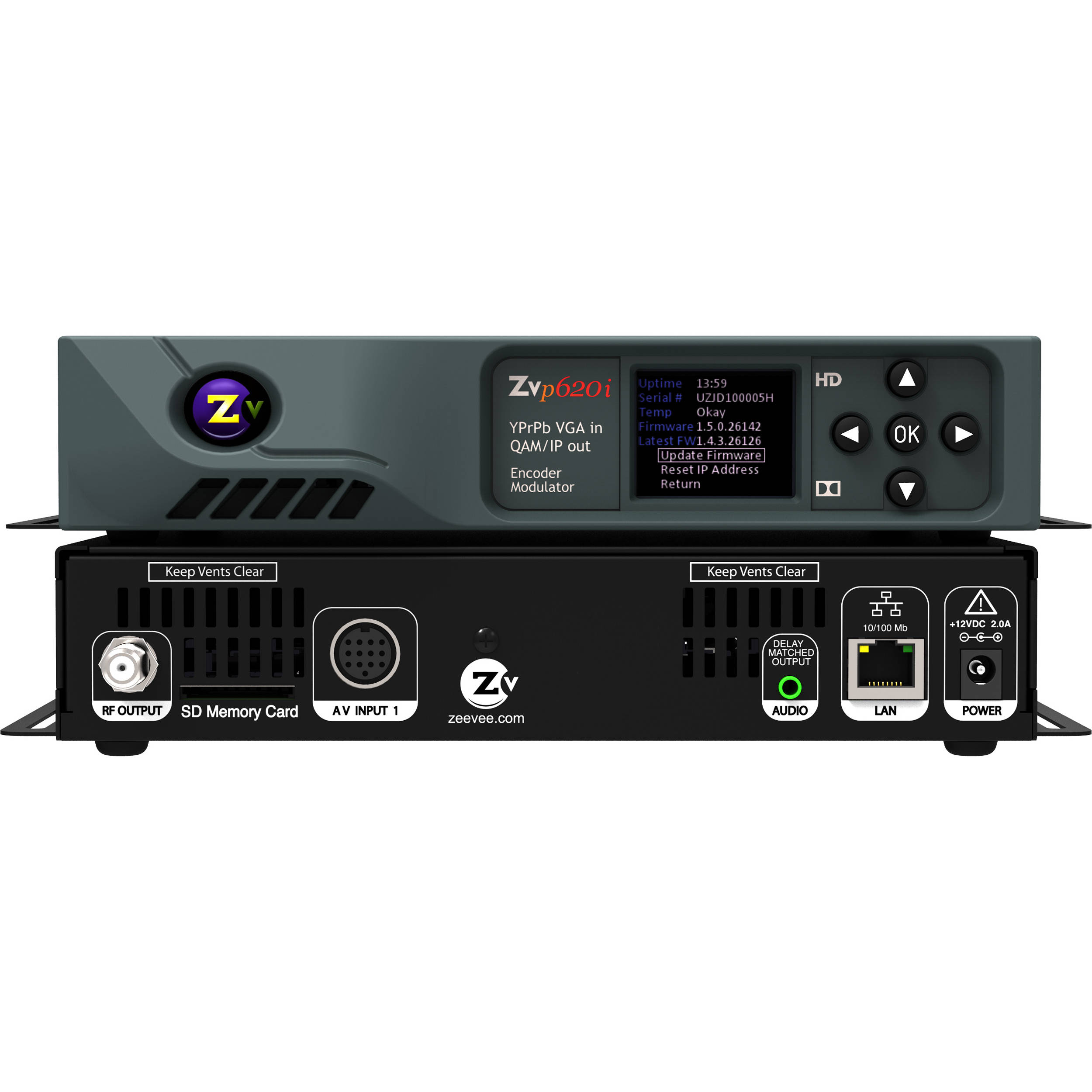 ZeeVee ZvPro620i HD Digital Encoder/Modulator ZVPRO620I B&H