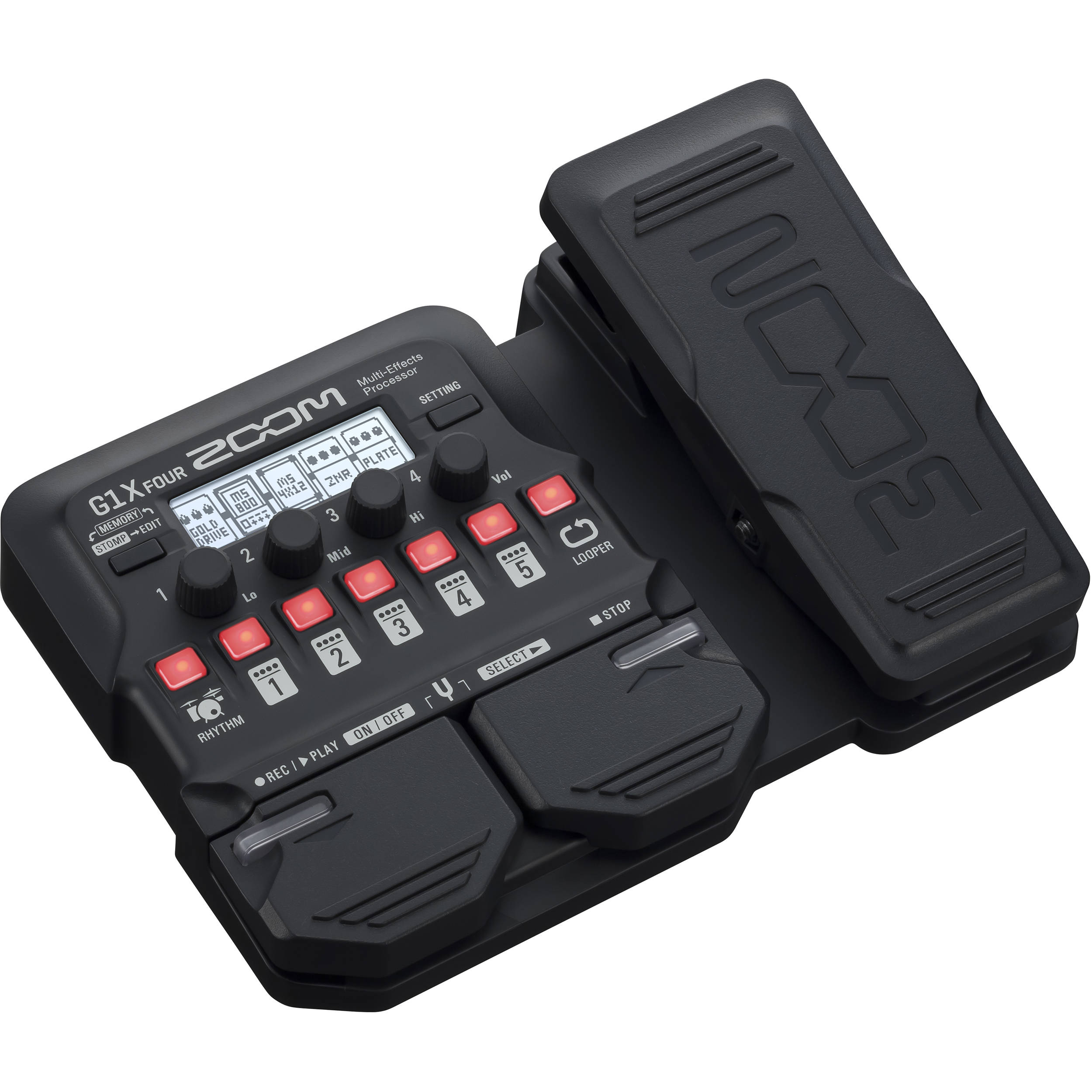 zoom g1x four guitar effects processor with built in zg1xfour. Black Bedroom Furniture Sets. Home Design Ideas
