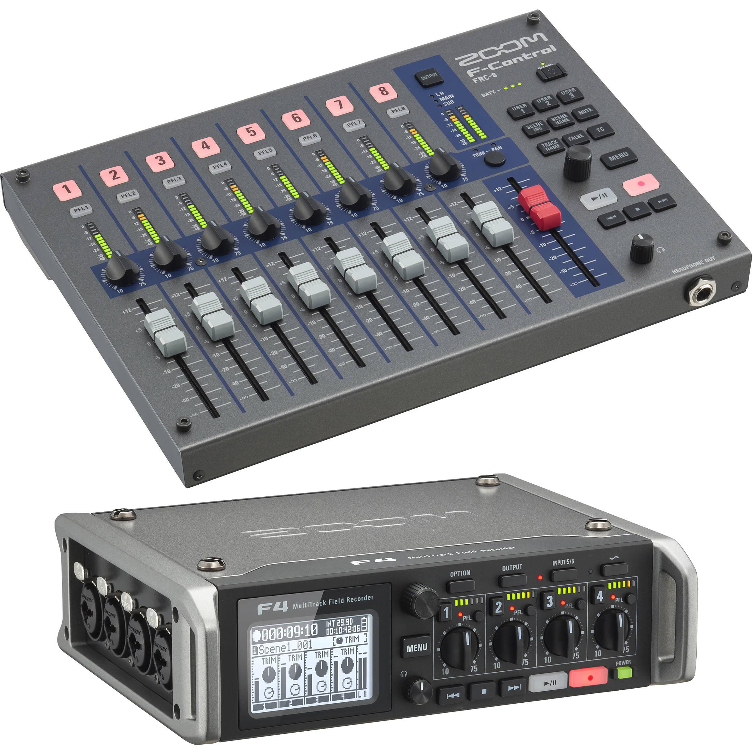 Digital Mixer With Multitrack Recording : zoom zoom f4 multitrack field recorder kit with f control mixer ~ Vivirlamusica.com Haus und Dekorationen