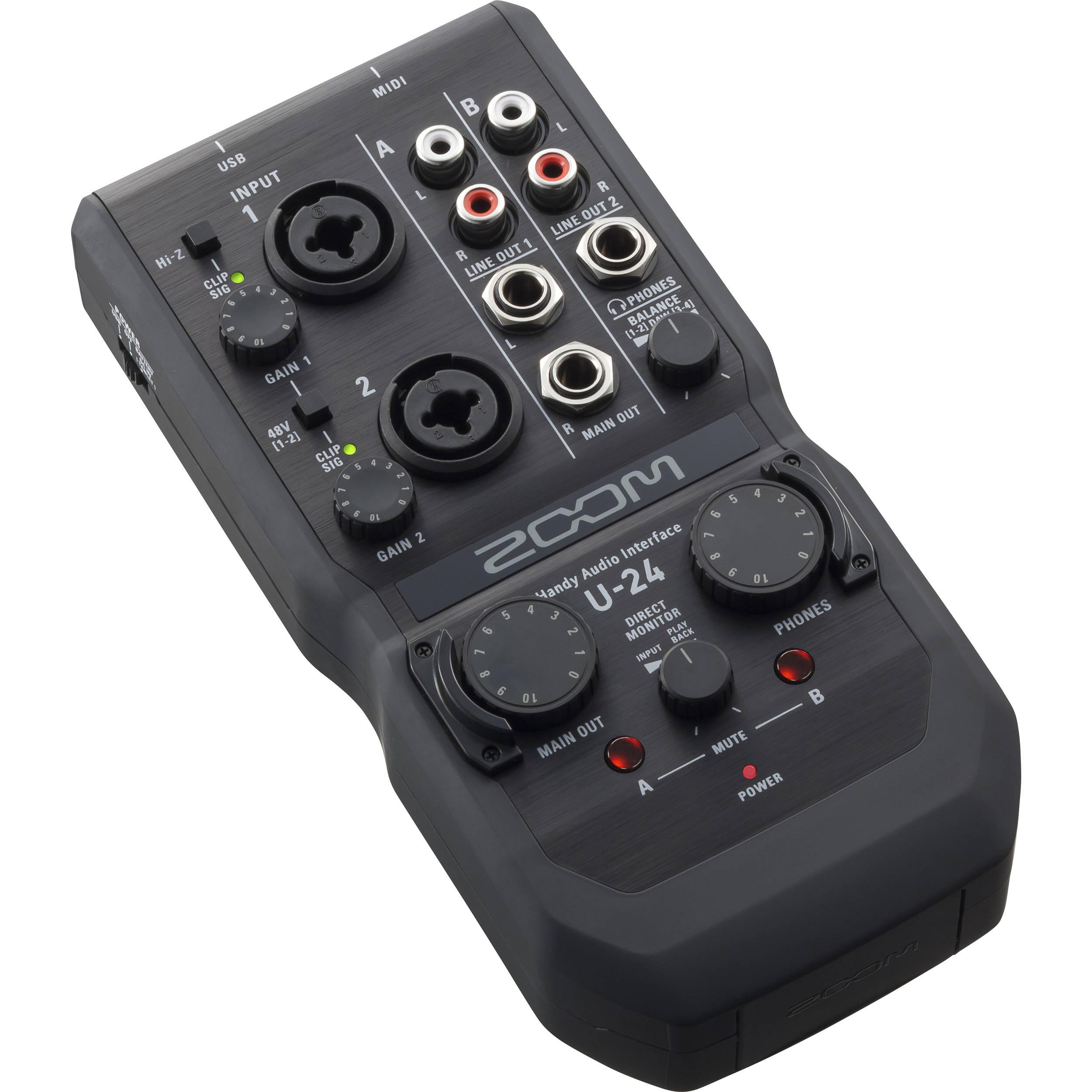 Portable Audio Interface : zoom u 24 portable audio interface zu24 b h photo video ~ Hamham.info Haus und Dekorationen