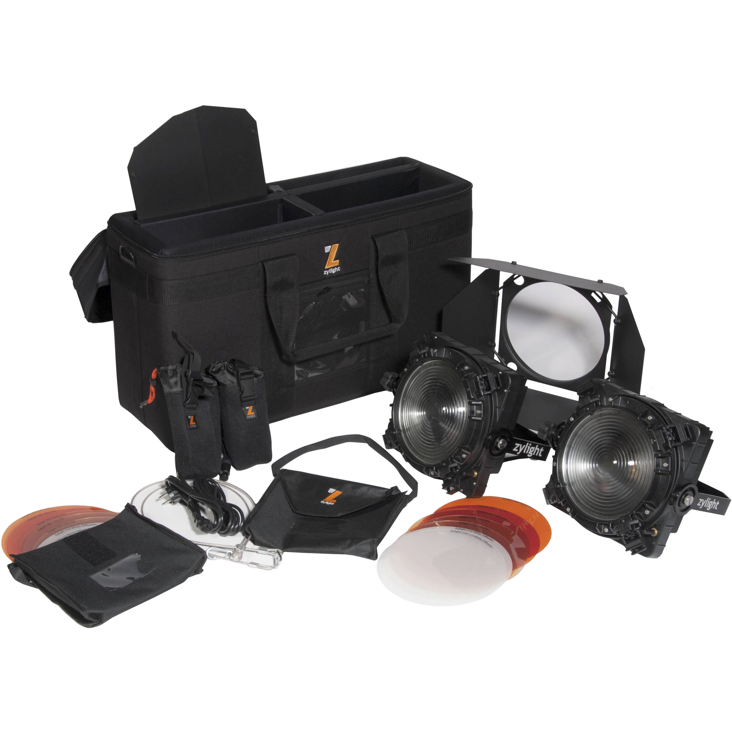Zylight F8 D 100 Led Fresnel Dual Head Eng Kit With Gold