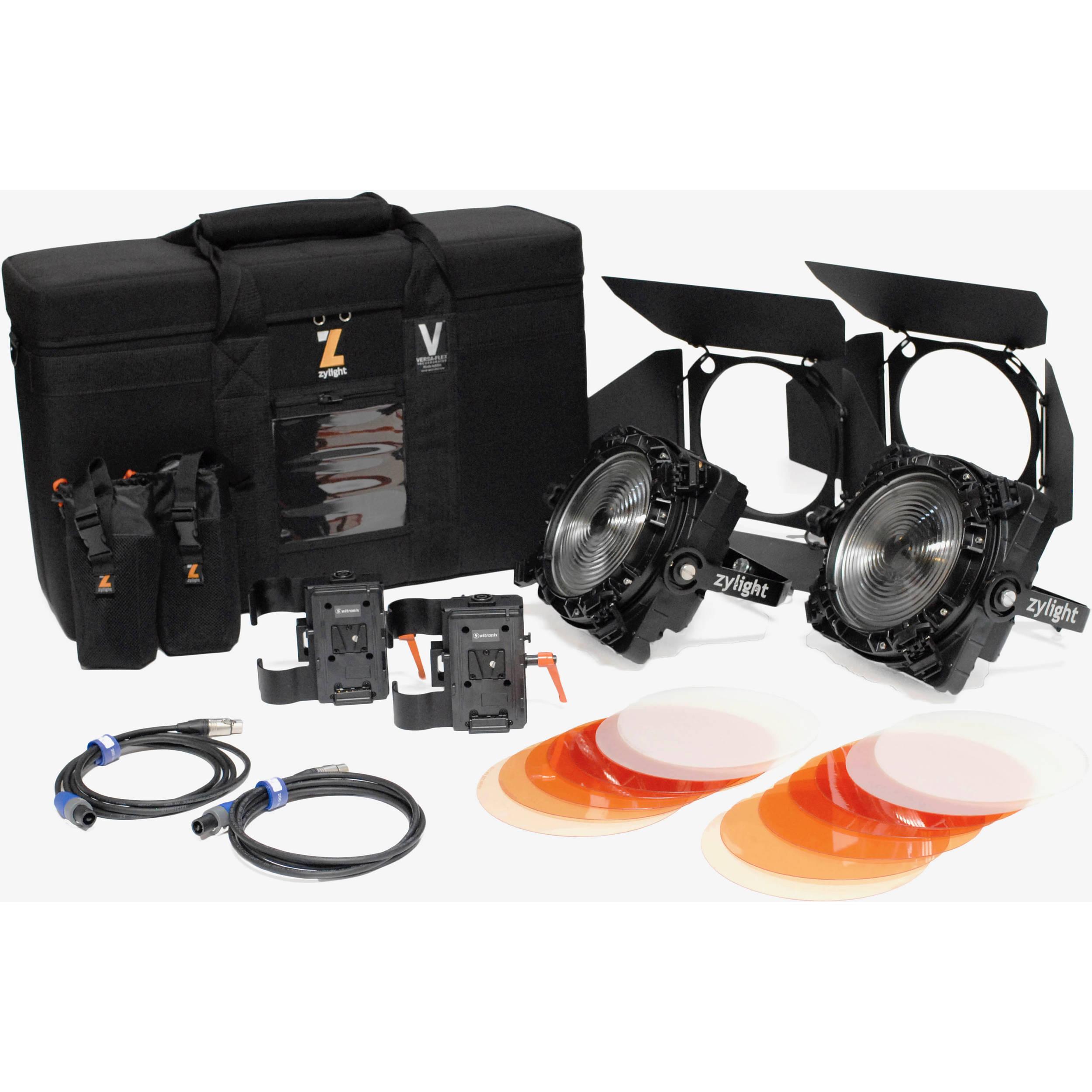 Zylight F8 200 Daylight Led Fresnel Dual Head Eng Kit 26 01054