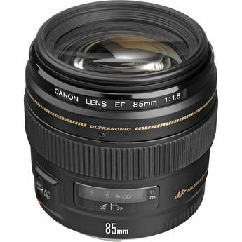 Canon 85mm f/1.8 USM Autofocus Lens