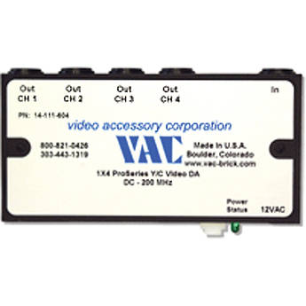 Vac 14-111-604 1x4 Y/C Distribution Amplifier