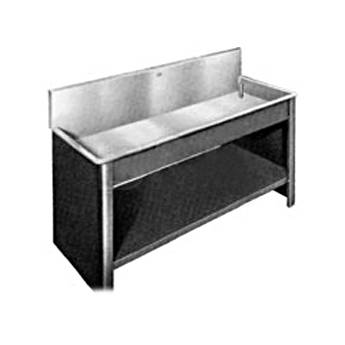 Arkay Black Vinyl-Clad Steel Sink Stand for 24x96x6