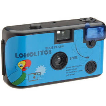 Lomography Lomolitos Blue 35mm Disposable Camera with Blue Flash