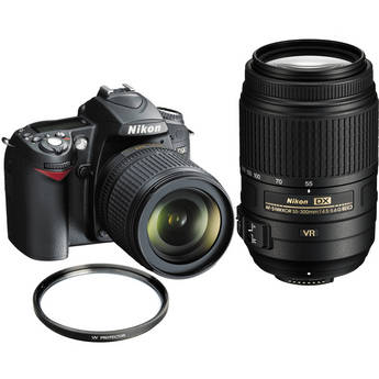 Nikon D90 SLR Digital Camera Kit with Nikon 18-105mm VR Lens & 70-300mm VR Lens