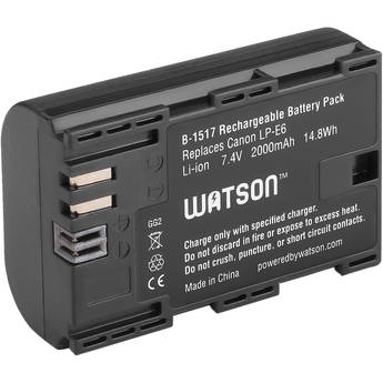 Watson LP-E6 Lithium-Ion Battery Pack (7.4V, 1750mAh) FREE SHIPPING