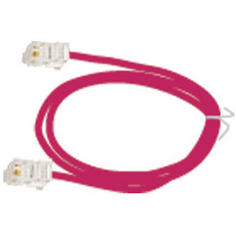 NVT 3' (0.91 m) 2-Pair RJ45 Patch Cord (Red)