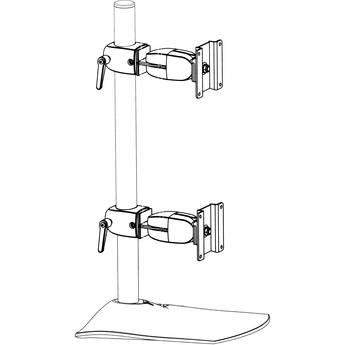 Ergotron Ds100 Dual Monitor Vertical Desk Stand Black