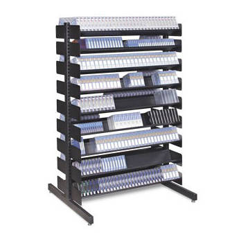 Turtle Single-Sided Multi-Media Rack with Eight Shelves for 240 LTO-Size  sc 1 st  Bu0026H & Turtle Single-Sided Multi-Media Rack with Eight P048-00101 Bu0026H