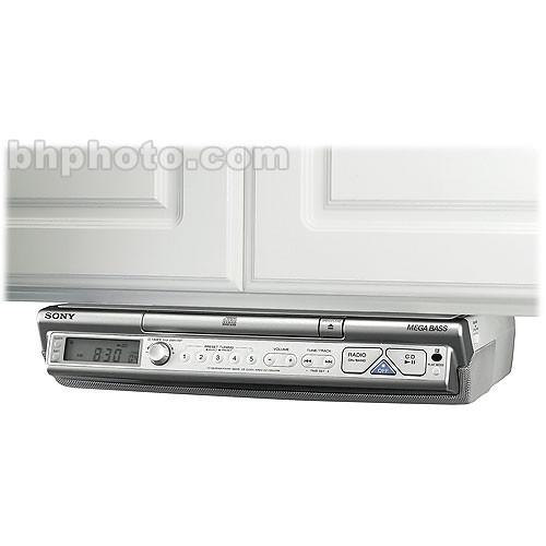 sony icf cd543 under cabinet kitchen cd clock radio am fm stereo. Interior Design Ideas. Home Design Ideas