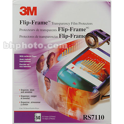 3M Flip-Frame Transparency Protectors RS7110 B&H Photo Video