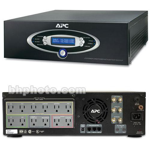 apc j10 home theater power conditioner surge protector j10blk. Black Bedroom Furniture Sets. Home Design Ideas