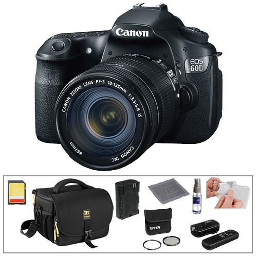 canon eos 60d digital slr camera with 18 135mm lens basic. Black Bedroom Furniture Sets. Home Design Ideas