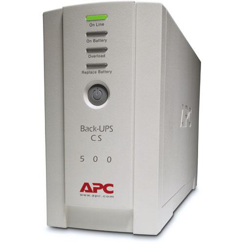Battery Powered Outlet >> Apc Back Ups Cs 500 6 Outlet Backup And Surge Protector Bk500