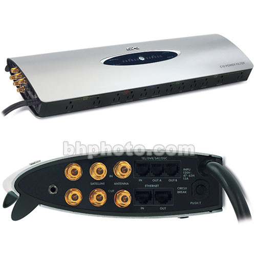 Apc C10 Home Theater Filter Surge Protector Silver
