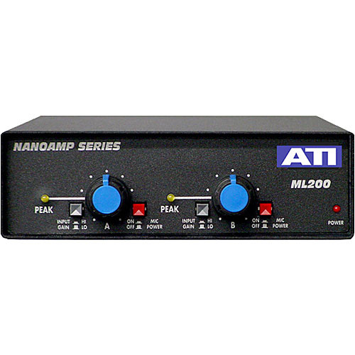 ati audio inc ml200 dual mic to line amplifier ml200 bamph