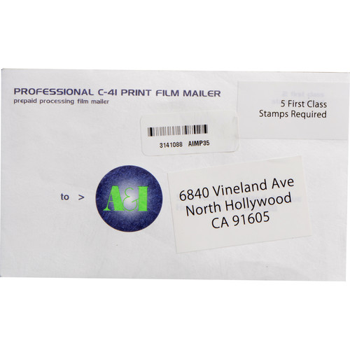 Processing and Printing Mailer for 35mm Color Negative Film: bhphotovideo.com/c/product/201127-reg/a_i_develop_prints_mailer.html