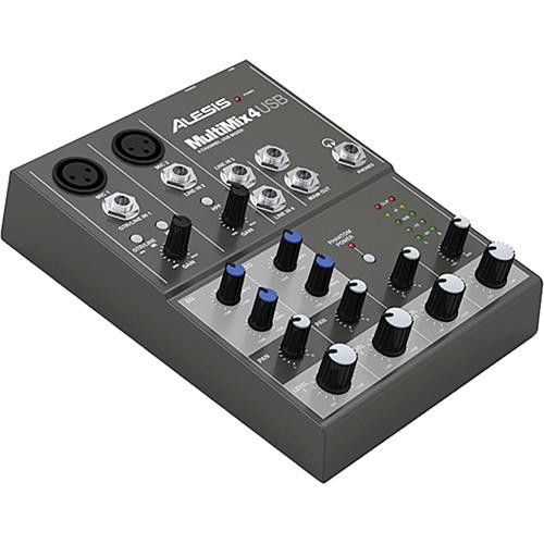 alesis multimix 4 4 channel audio mixer with usb multimix 4 usb. Black Bedroom Furniture Sets. Home Design Ideas