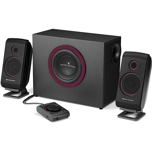 altec lansing vs2421 2 1 stereo speaker system vs2421 b h. Black Bedroom Furniture Sets. Home Design Ideas