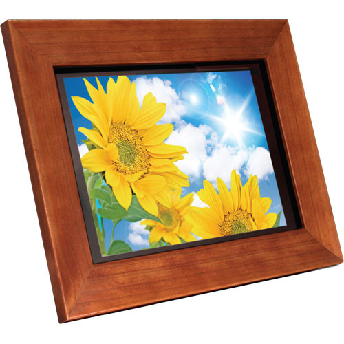 Aluratek 11 Hi Res Digital Picture Frame Wood Admpf311f